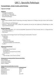 QB 5 - Spezielle Pathologie