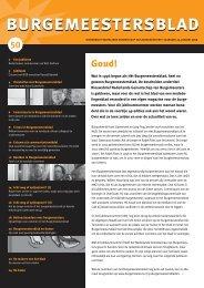 burgemeestersblad - Nederlands Genootschap van Burgemeesters