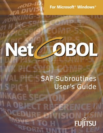 NetCOBOL for SPARC Architecture SAF Subroutines User's Guide