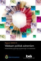 Våldsam politisk extremism - Brottsförebyggande rådet