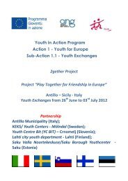 Youth Exchanges 2gether Project Project - Comune di Antillo