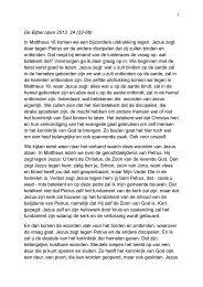De Bijbel open 2013 24 (22-06) In Mattheus 16 komen we een ...