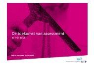 De toekomst van assessment - NIP