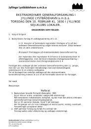 Referat af ekstraordinær generalforsamling 10/02-2011