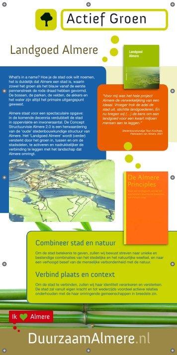 Banner Actief Groen >> lees verder - Duurzaam Almere