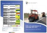 Drifts- och underhållsplan för landsvägar 2010–2014 - ELY-keskus