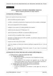 Annexe 4 - Les conduites à tenir en première urgence