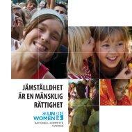 jämställdhet är en mänsklig rättighet - UN Women Sverige
