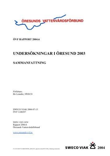 ÖVF 2004:6 Sammanfattning 2003 - Öresunds vattenvårdsförbund