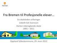 Fra Bremen til Profesjonelle elever… - Oppland fylkeskommune