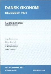 Dansk økonomi, december 1994 - De Økonomiske Råd