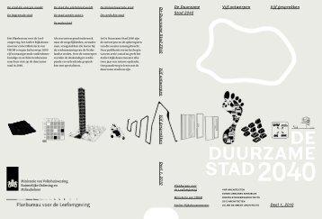 DE DUURZAME STAD 2040 - College van Rijksadviseurs