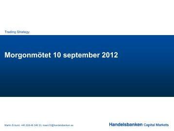 Morgonmötet 10 september 2012 - Handelsbanken