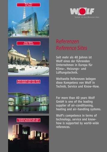 Referenzen Reference Sites - wolf