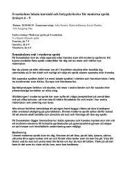 Moderna Språk - Sveaskolan