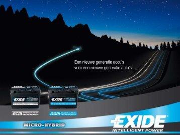 Het Exide Micro-Hybride gamma