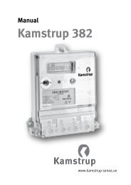 Kundmanual elmätare Kamstrup 382