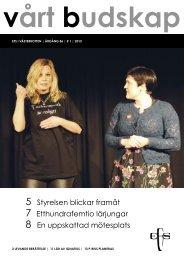Vårt Budskap nr 1/13 - EFS Västerbotten
