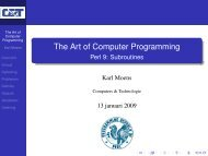 The Art of Computer Programming - Perl 9: Subroutines