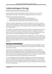 Valberedningens förslag - Brf Resort Visby