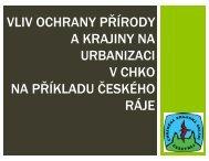 vliv ochrany přírody a krajiny na urbanizaci v chko na příkladu ...