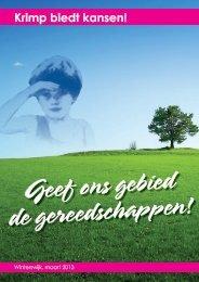 Buurtschappenvisie Krimp biedt kansen! - Stichting WCL Winterswijk