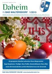 Ausgabe März 2013 - Gemeinde Bad Waltersdorf