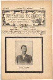 Unitárius Közlöny - 13. köt. 8. sz. (1900. augusztus)