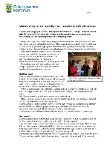Minnesanteckningar Vara Vettig Vuxen 14 maj 2009 - Oskarshamn