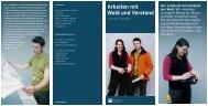 Flyer Arbeiten mit wald und verstand - Bayerische Staatsforsten