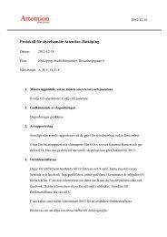 Protokoll från styrelsemöte 18 december - Attention i Jönköping