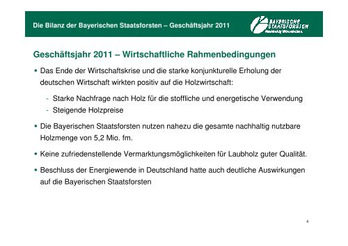 Ökologische Bilanz - Bayerische Staatsforsten