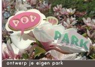 ontwerp je eigen park - URBAN ACUPUNCTURE