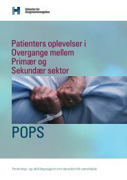 Patienters oplevelser i Overgange mellem Primær og Sekundær ...