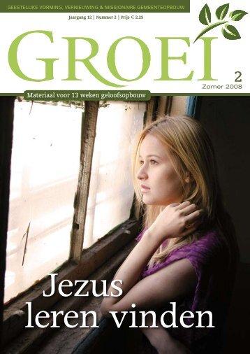 2008-2 Jezus leren vinden - Groei