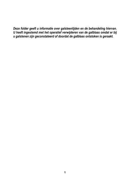 Galblaas, verwijderen van de - SJG Weert