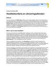 Verslag platform Milieuhandhaving grote gemeenten - Pmgg