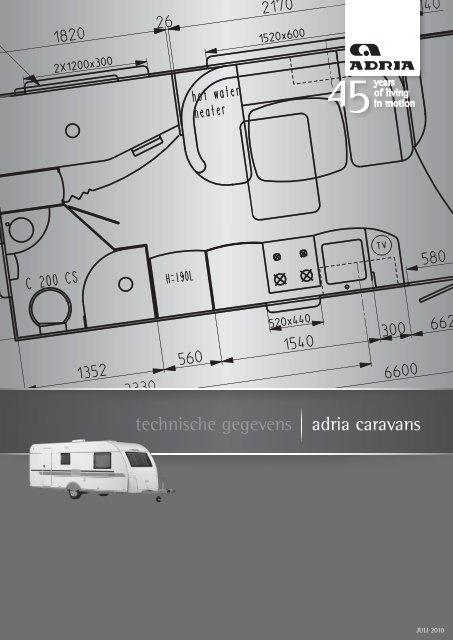 technische gegevens adria caravans - Adria Mobil