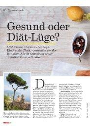Mediterrane Kost unter der Lupe: Ein Runder Tisch, veranstaltet von ...