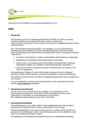 Infobundel-kok - OCMW Halle