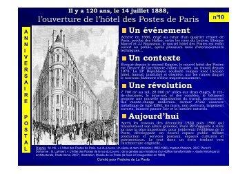 14 juillet 1888, il y a 120 ans… l'hôtel des Postes, rue du ... - La Poste