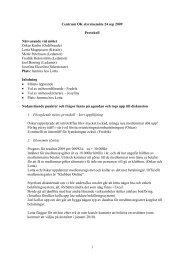 1 Centrum OK styrelsemöte 24 sep 2009 Protokoll Närvarande vid ...