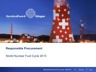Responsible Procurement - World Nuclear Fuel Cycle