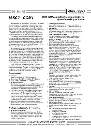 IASC2-COM1 leaflet - Brutech