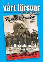 Nr 3/ 2006 Årgång 118 - Allmänna Försvarsföreningen