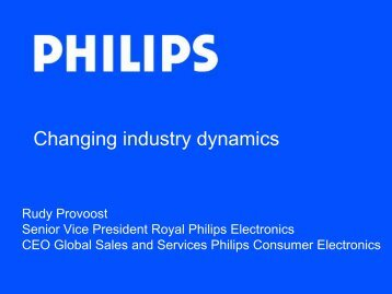 Changing industry dynamics