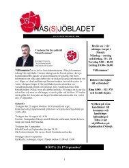 NÄS(S)JÖBLADET - S-info