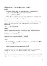 """Forslag til løsning af """"Opgaver til kombinatorik"""" (side 432)"""