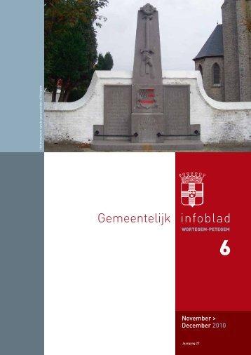 Infoblad nr. 6 : november-december 2010 - Wortegem-Petegem