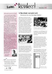 ; Barmbek vernetzt sich - Beschäftigung + Bildung ev